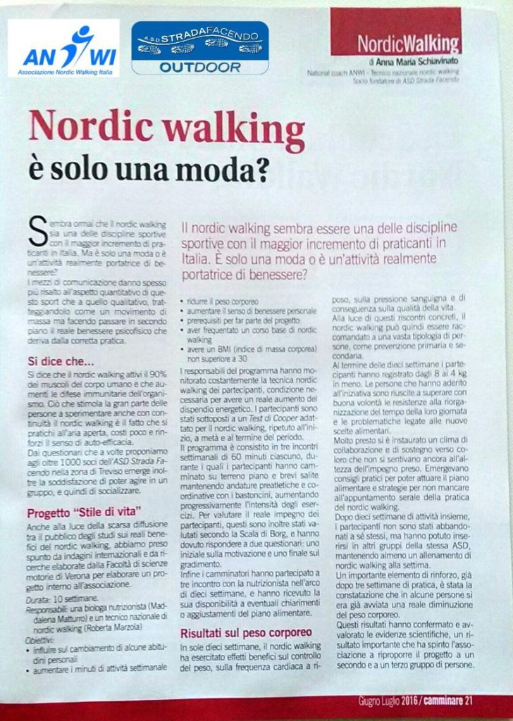 camminare nordic walking